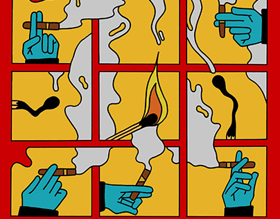 Smokey illustration for De Optimist