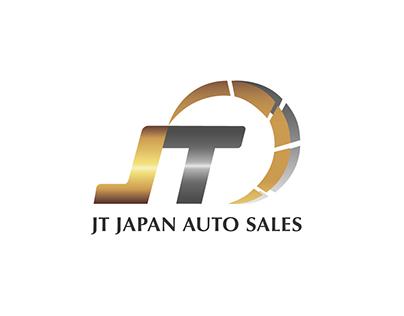 JT JAPAN AUTO SALES Logo Design