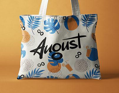 August / Handbag store / Lettering