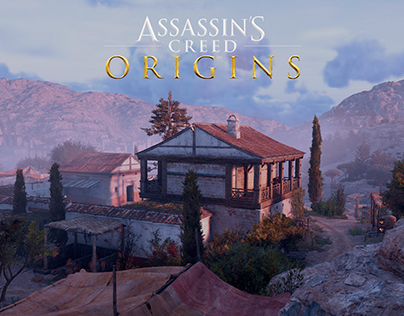 Assassin's Creed Origins - Level art of grape farm