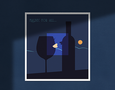 Vector illustrations for postcard series
