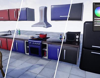 Stylized Kitchen Furniture [UE4]