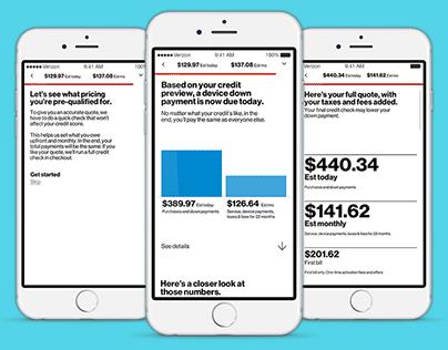 Verizon - credit check redesign