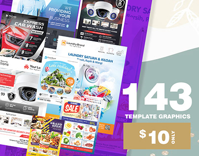 Graphic template ready to use, 143 Asset to your work