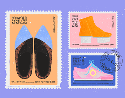 Shoofra Shoes Stamps Series