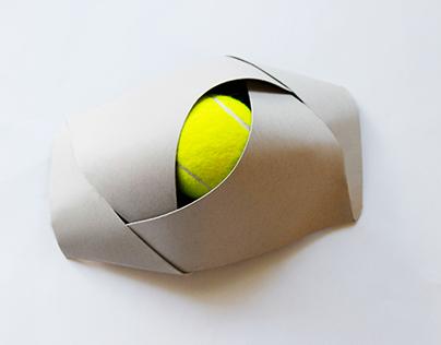Packaging for a tennis ball