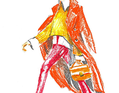 fashion oilpastel