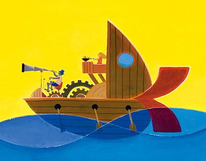 illustration for story - voyege of little people -