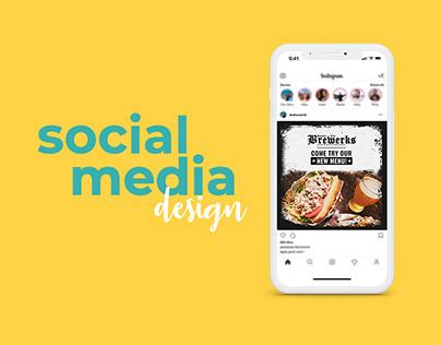 Social Media Design - Restaurants and Bars