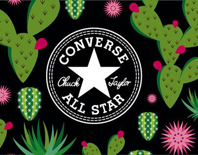 Converse México, ilustraciones para caps