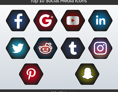Top 10 Social Media Icons Design in Vector
