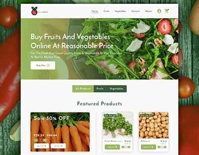 Vegetables & Fruits Web Design