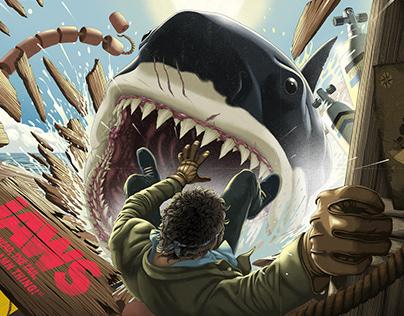 JAWS 45TH ANNIVERSARY PRINT