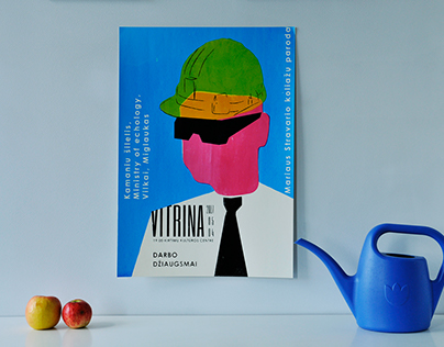 """Posters for one day festival """"Vitrina"""""""