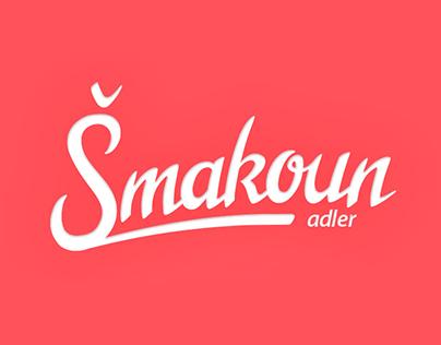 Šmakoun - design logo and homepage