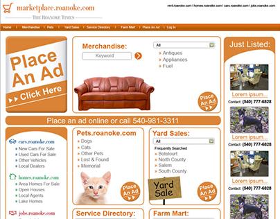 marketplace.roanoke.com website design