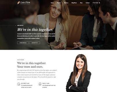 Law Firm – Lawyer & Attorney WordPress Theme