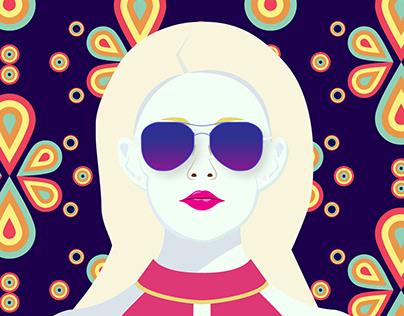 Portrait pattern Illustration