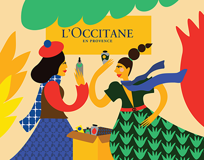 my own concept illustration for L'Occitane brand