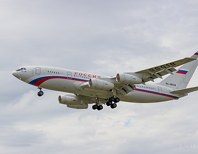 IL-96, one of the largest aircraft in Russia