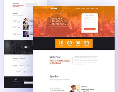 EventYLO Landing Page Design