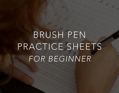 Brushpen Practice Sheets (for Beginner)