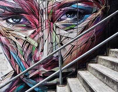 street art in central, Hong Kong