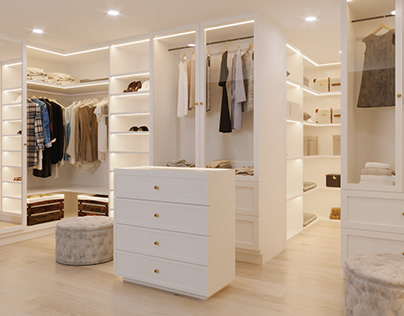 Elegant Walk- In Closet