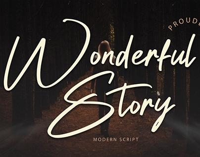 Wonderful Story Font Design