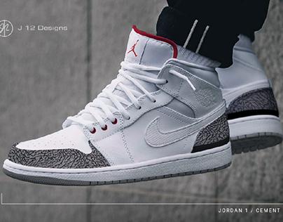 Jordan 1 Custom Design: Cement 3s