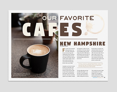 New Hampshire Magazine Article Mockup