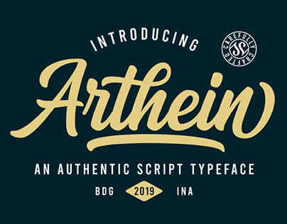 FREE | Arthein An Authentic Script Typeface