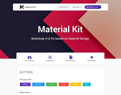 Free Material Style Guide