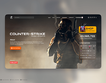 Counter Strike Website Redesign Concept