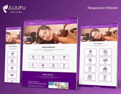 JUJUFU SALON & SPA Website Landing Page Template