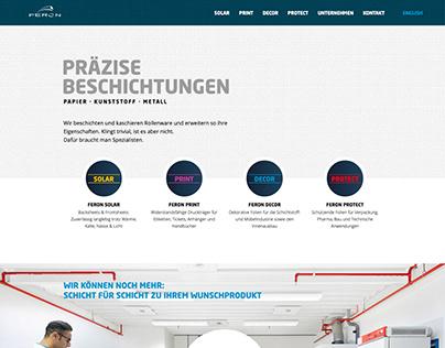 Webseite für Feron