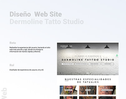Rediseño Sitio Web Dermoline Tattoo Studio