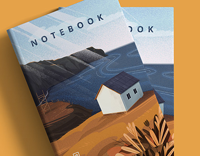 "Notepad cover ""serene landscape"""