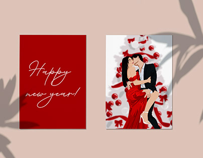 New Year's cards and illustrations for Instagram