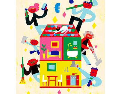 "Illustration work for Member magazine ""Kizuna"" No. 143"