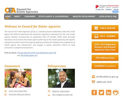 Website revamp for CEA Singapore