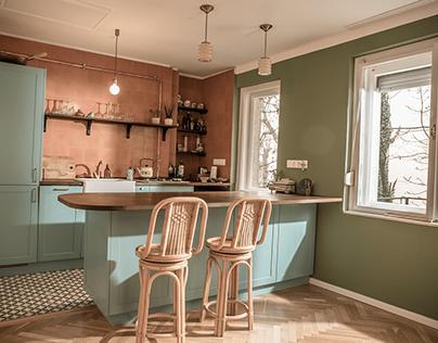 small Buda apartment renovation