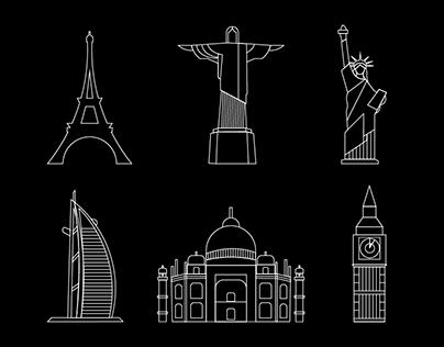 Around The World - Landmark Icons