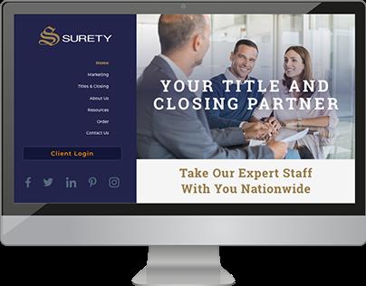 Surety Website Design