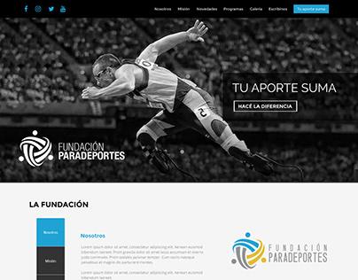 Web Fundación Paradeportes