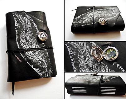 Leather Notebook, Long Stitch Binding, Handmade