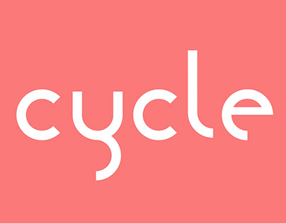 Cycle experimental font