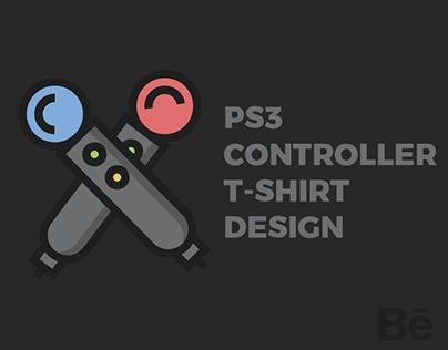 PS3 CONTROLLER T-SHIRT DESIGN