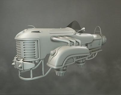 Sci-fi Beetle-Bike