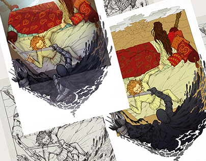 An illustration project in progress